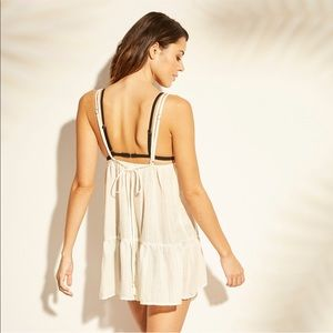 Off white swimsuit cover up